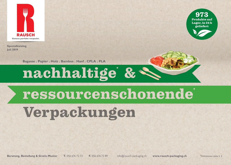 RAUSCH Spezialkatalog Nachhaltigkeit 2019   Schweiz by