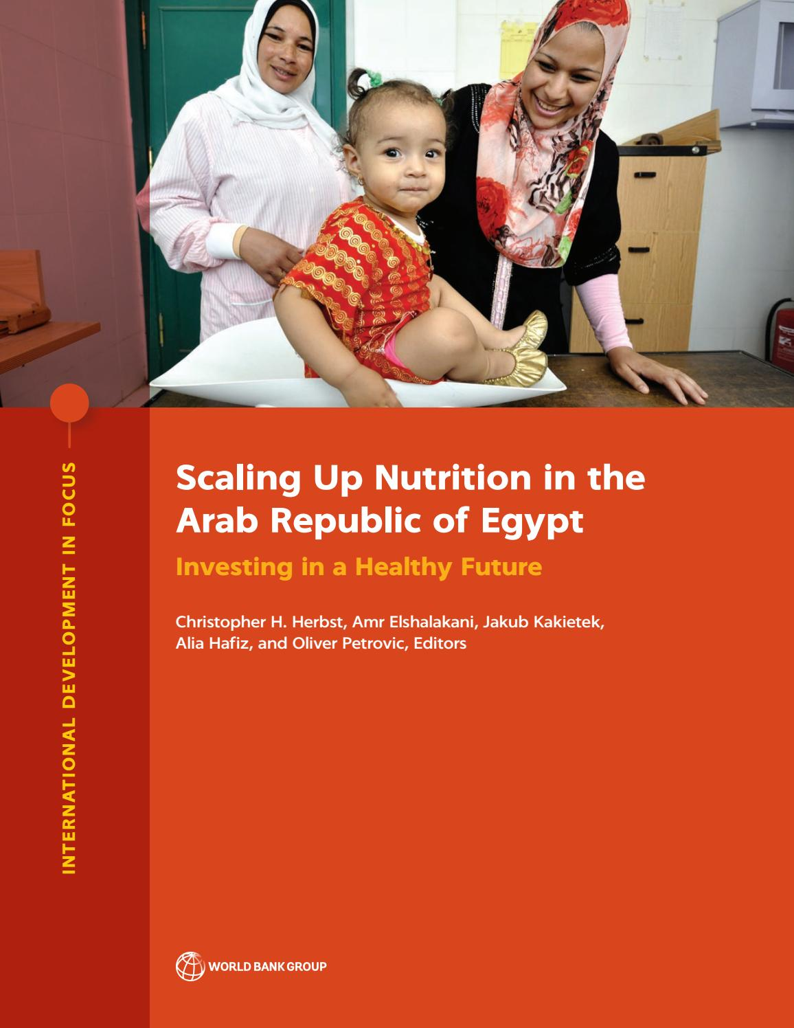 Amr Fawzi scaling up nutrition in the arab republic of egyptworld