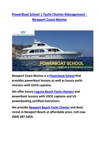 Powerboat Training School In Newport Beach By Newport
