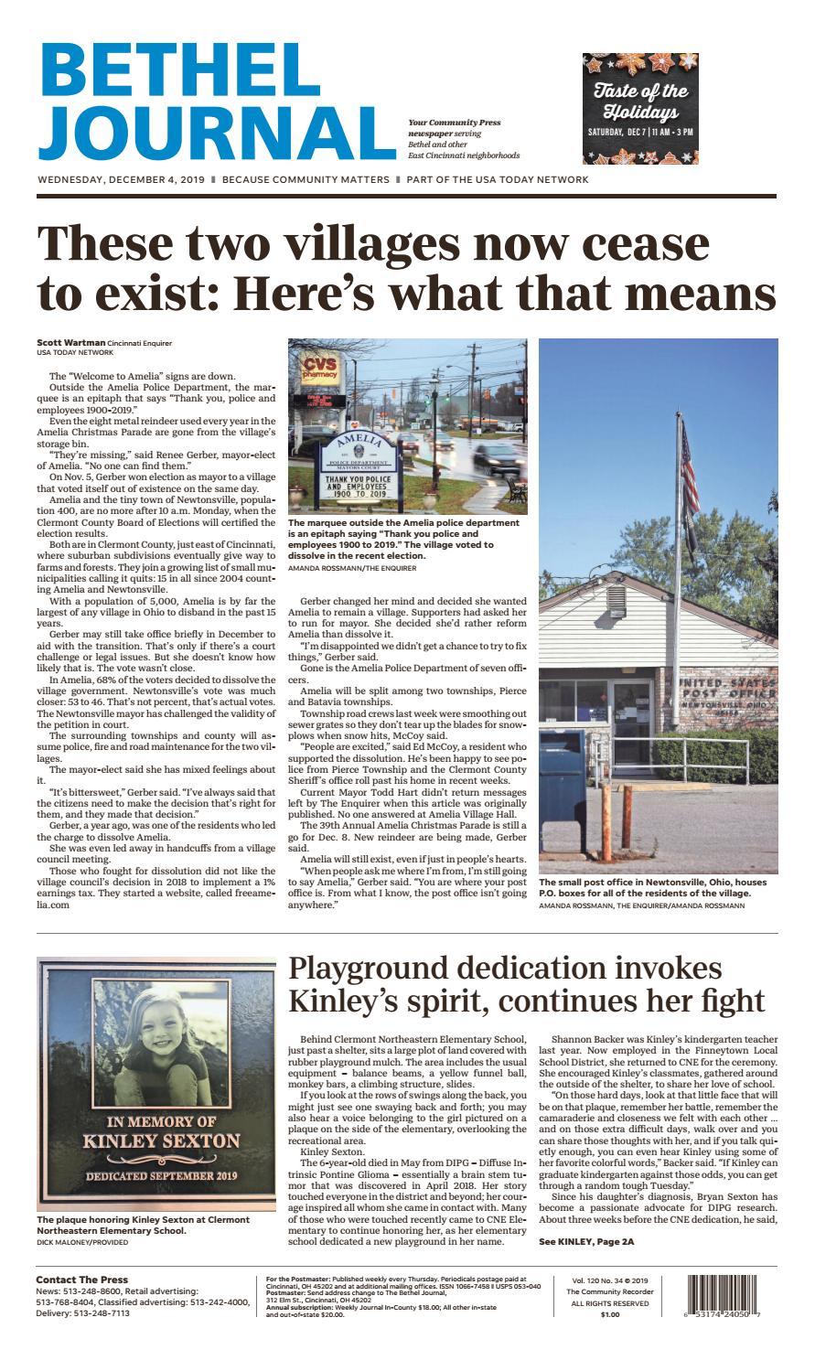 Bethel Journal 12 04 19 By Enquirer Media Issuu