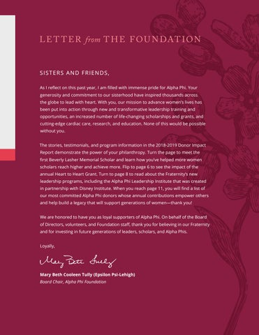 Page 3 of LETTER from THE FOUNDATION