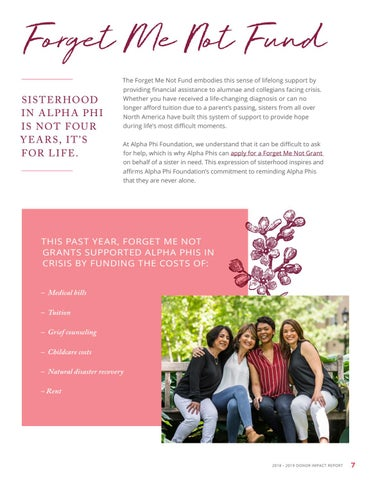 Page 7 of Impacting Sisters Through Forget Me Not Grants