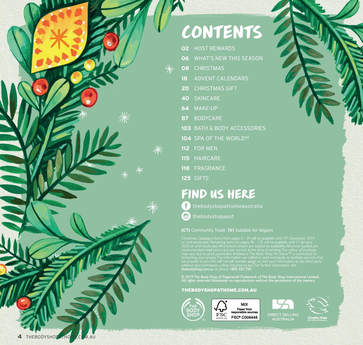 Christmas 2020 Catalogue The Body Shop At Home™ Christmas Spring Catalogue 2019 by The Body
