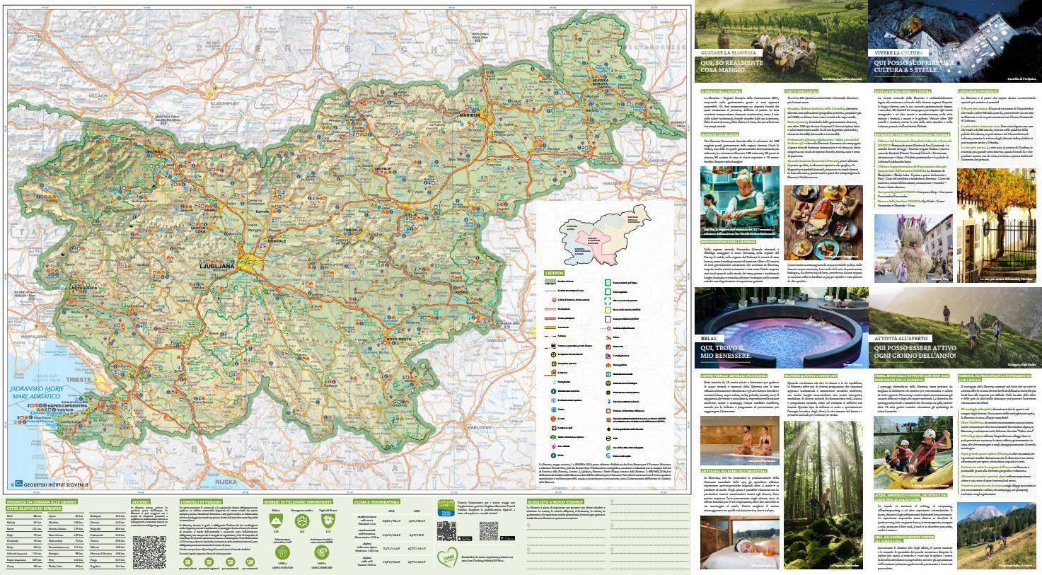 Portorose Slovenia Cartina Geografica.Mappa Turistica Della Slovenia By Slovenian Tourist Board Issuu