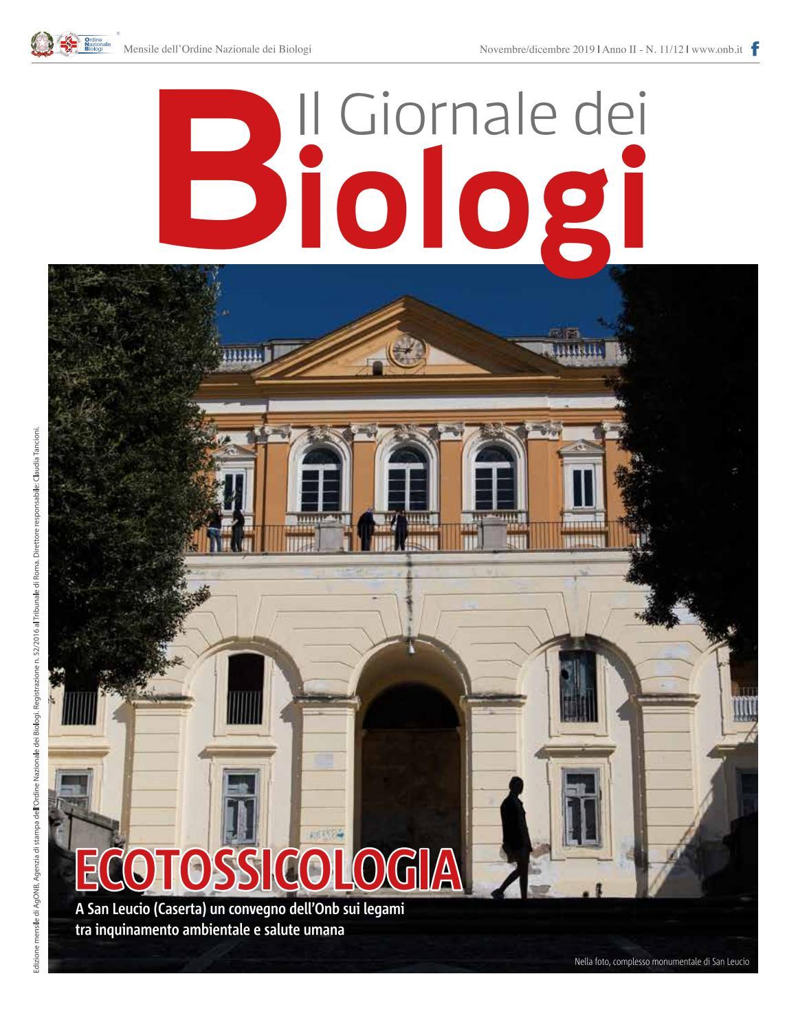 la migliore vendita offerte esclusive nuovo prodotto Il Giornale dei Biologi - N. 11/12 - Novembre/Dicembre 2019 by ...