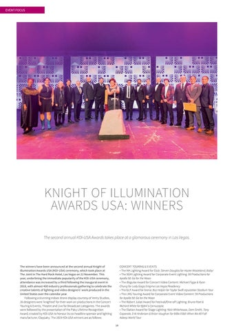 Page 14 of KNIGHT OF ILLUMINATION AWARDS USA: WINNERS