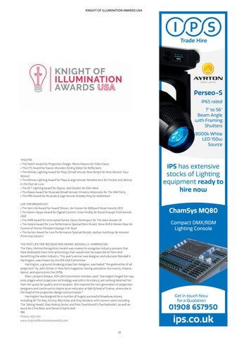 Page 15 of KNIGHT OF ILLUMINATION AWARDS USA: WINNERS