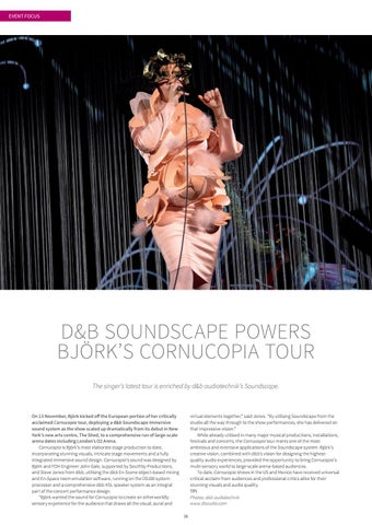 Page 16 of D&B SOUNDSCAPE POWERS BJÖRK'S CORNUCOPIA TOUR