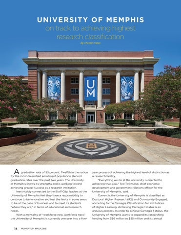 Page 16 of University of Memphis on track to achieving highest research classification