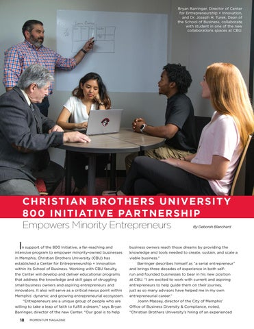 Page 20 of  Christian Brothers University 800 initiative partnership empowers minority entrepreneurs