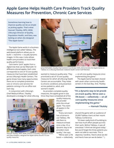 Page 4 of Apple Game Helps Health Care Providers Track Quality Measures for Prevention, Chronic Care Services