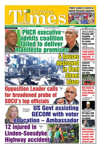 Guyana Times Saturday December 7 2019 By Gytimes Issuu