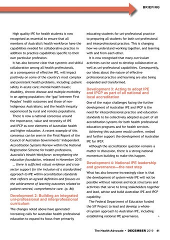 Page 41 of Helping to meet current and future healthcare needs.