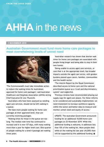 Page 6 of AHHA in the news