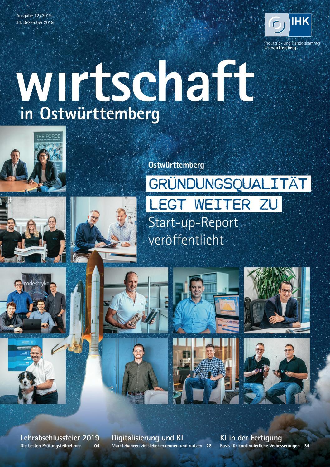 Wirtschaft in Ostwürttemberg Dezember 2019 by