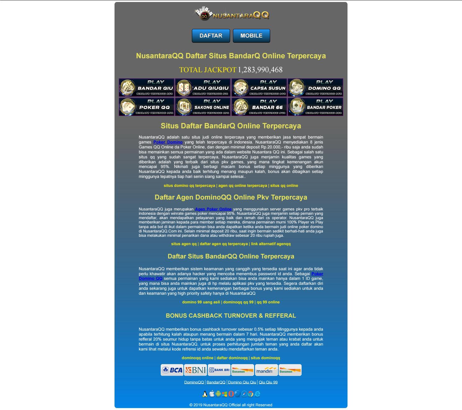 Nusantaraqq Daftar Situs Bandarq Online Terpercaya By Belajar Giat Issuu