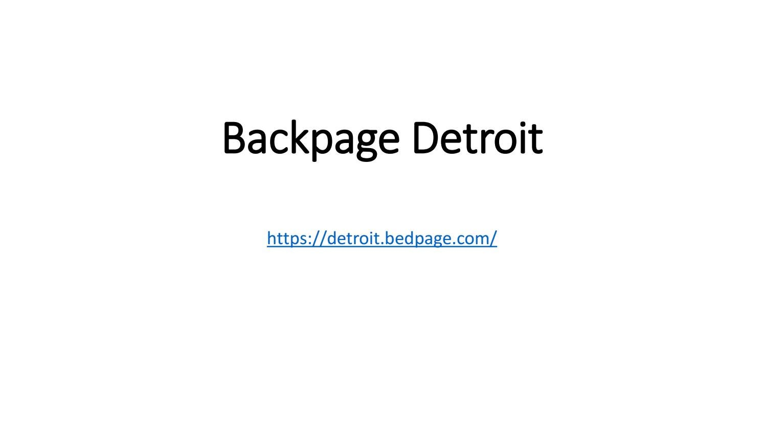 Backpage Com Detroit >> Backpage Detroit By Bedpage Classifieds Issuu