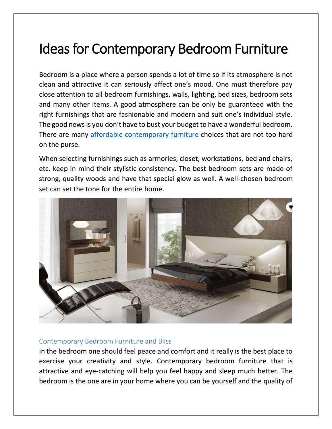 Ideas For Contemporary Bedroom Furniture By Modtempo Issuu