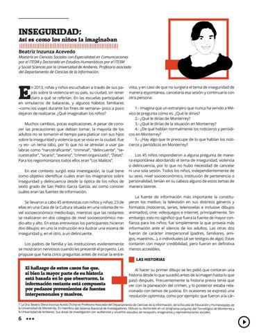 Page 10 of Inseguridad: Así es como los niños la imaginaban
