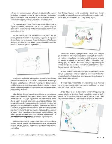Page 11 of Inseguridad: Así es como los niños la imaginaban