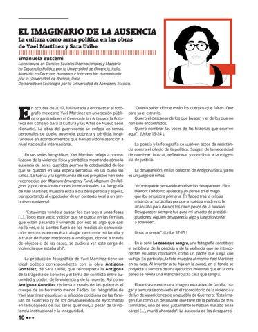 Page 14 of El Imaginario de la Ausencia: La cultura como arma política en las obras de Yael Martínez y Sara Uribe