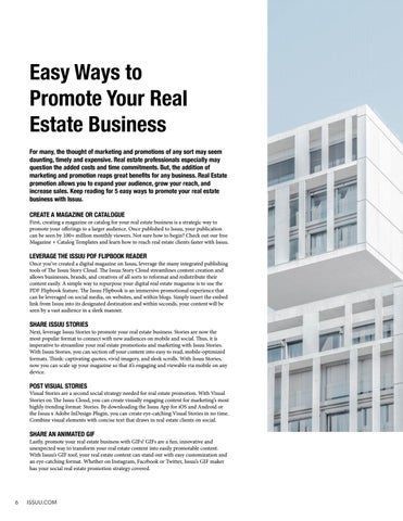 Page 6 of Easy Ways to Promote Your Real Estate Business