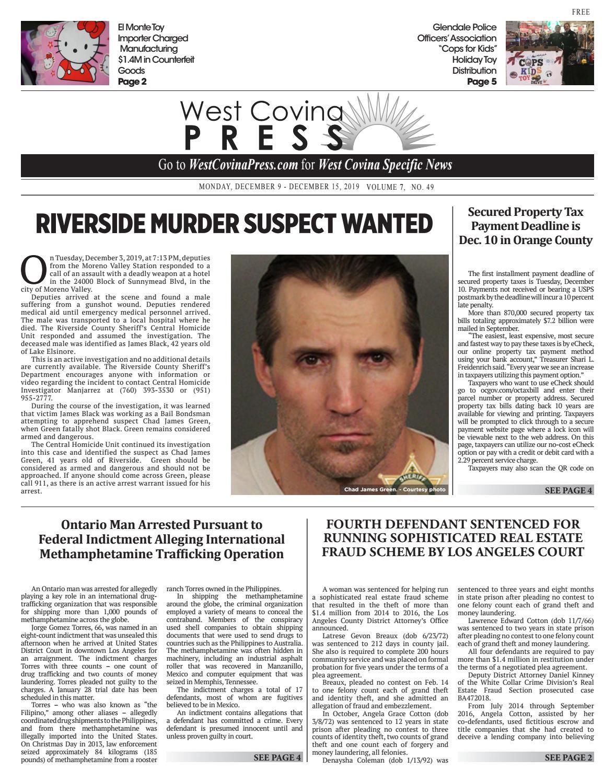 West Covina Press 12 09 2019 By Beacon Media News Issuu