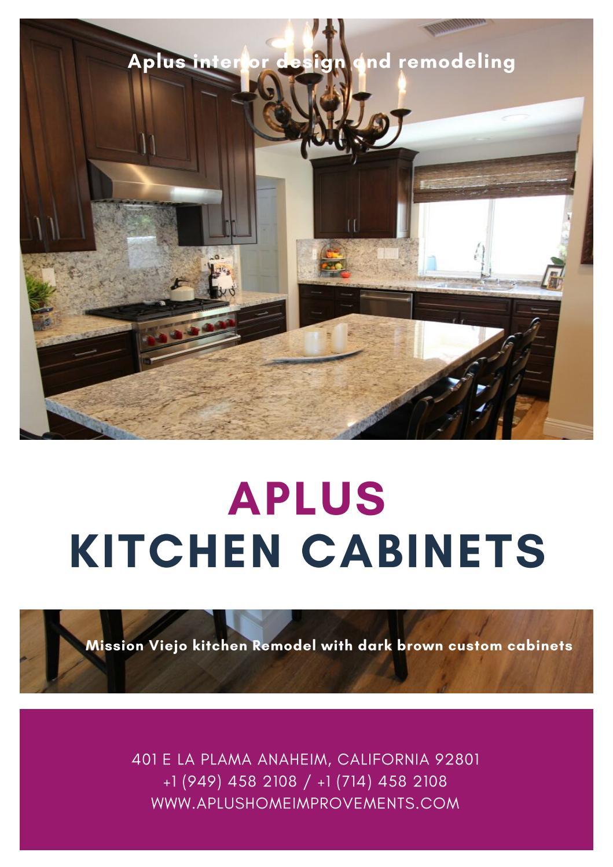 Mission Viejo Kitchen Remodel Dark Brown Custom Cabinets By Alex Tabrizi Issuu