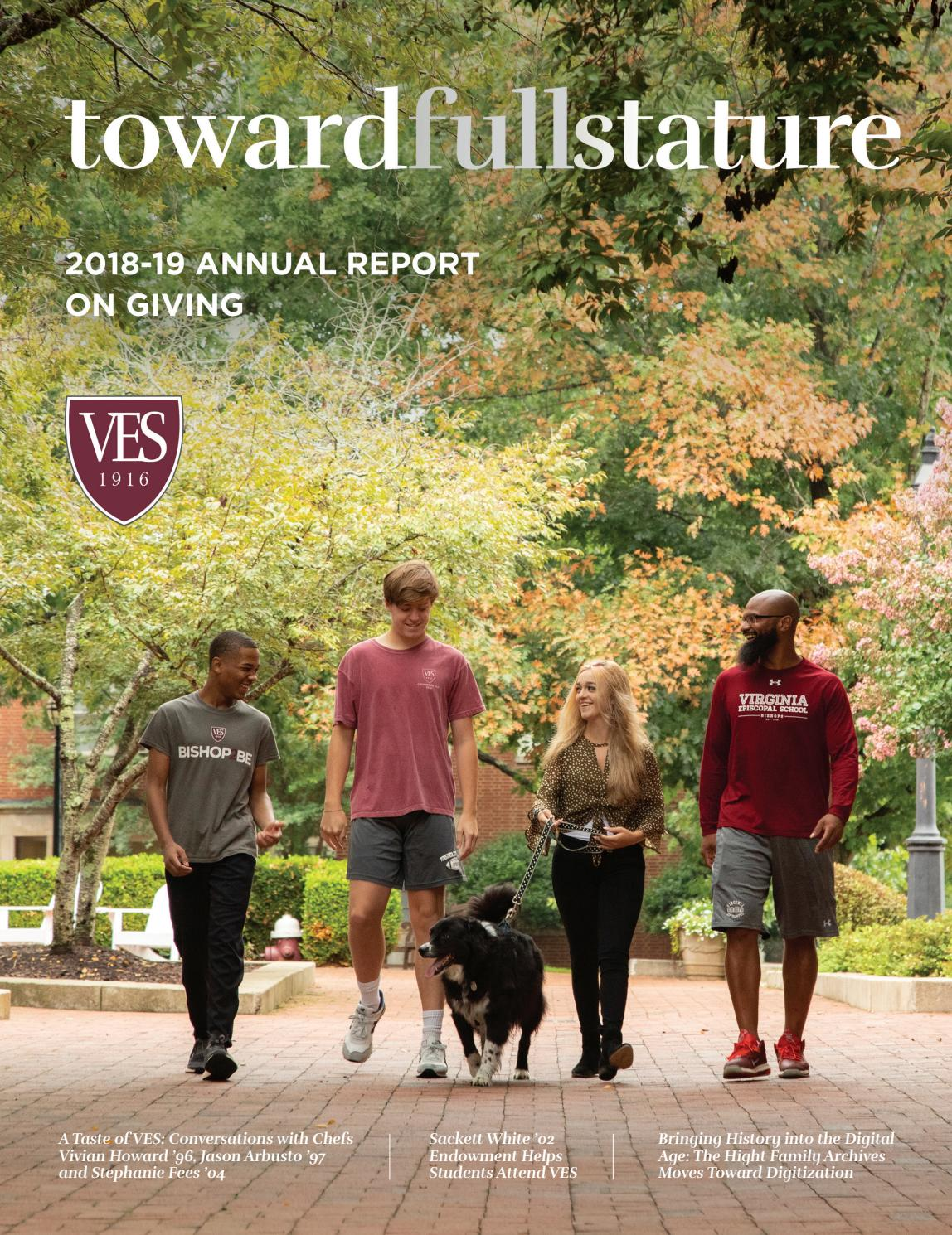 Virginia Episcopal School   20 20 Annual Report on Giving by ...
