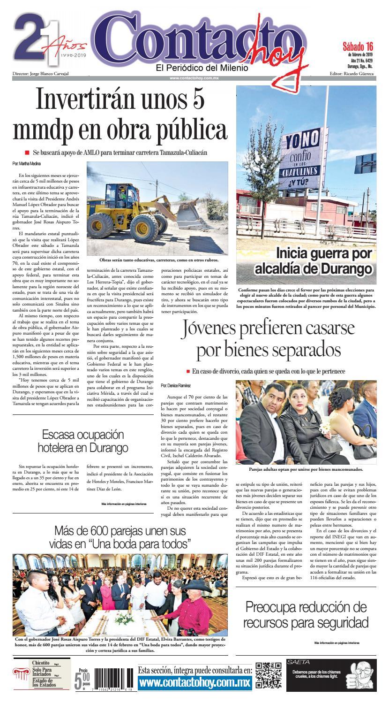 Amante Loba Y Vampira 2 periódico contacto hoy del 16 de febrero del 2019