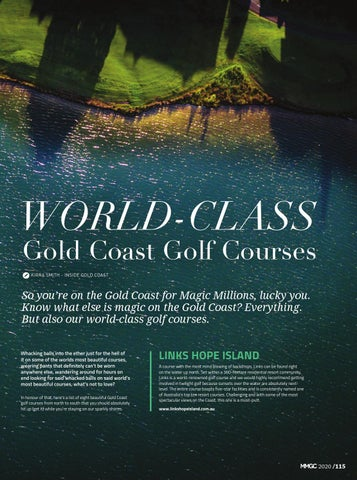 Page 117 of 8 WORLD-CLASS Gold Coast Golf Courses
