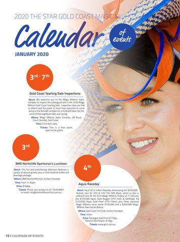 Page 14 of 2020 Carnival Calendar