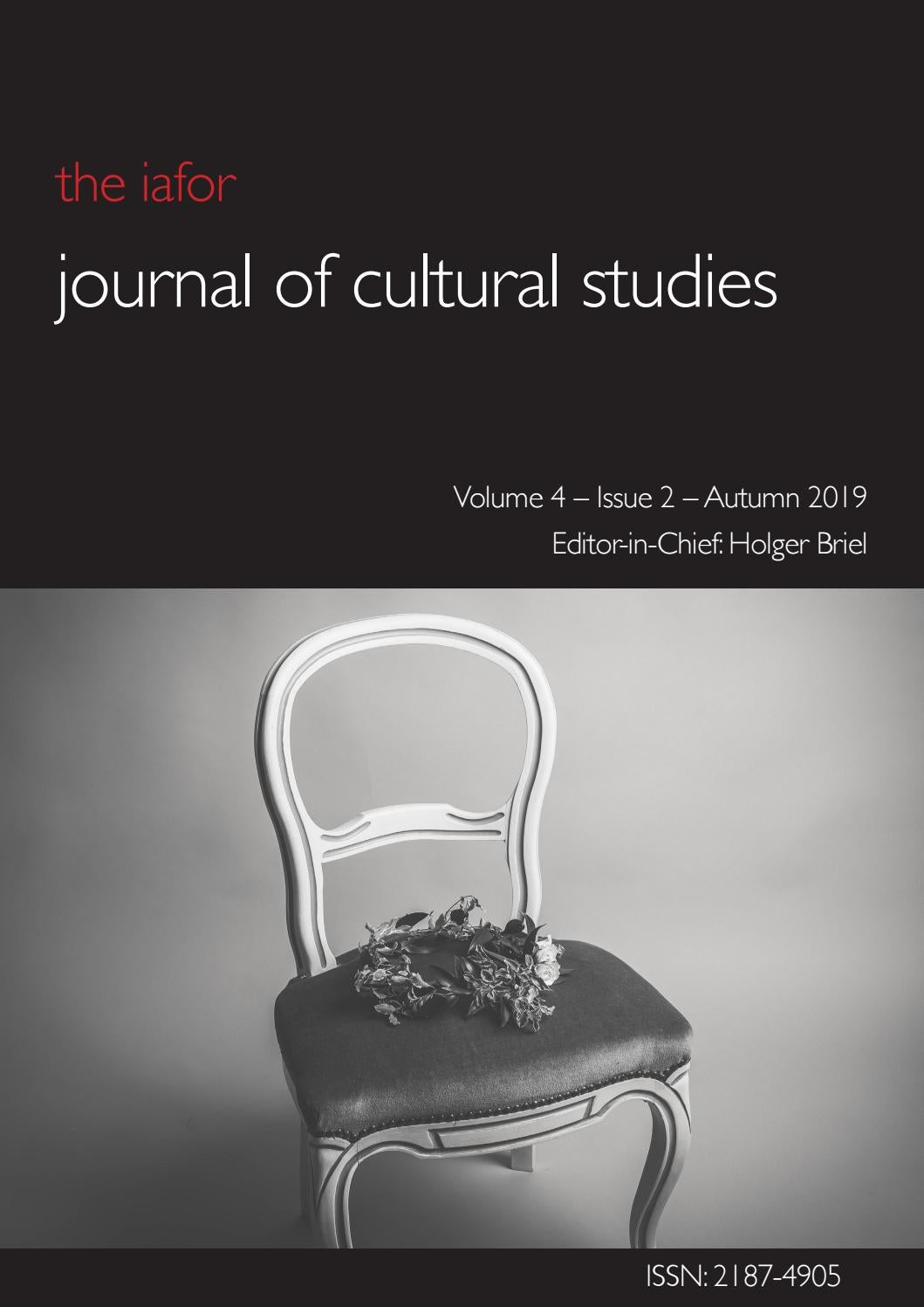 Iafor Journal Of Cultural Studies Volume 4 Issue 2 Autumn 2019