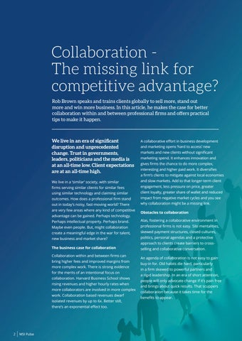 Page 4 of Collaboration - The missing link for competitive advantage?