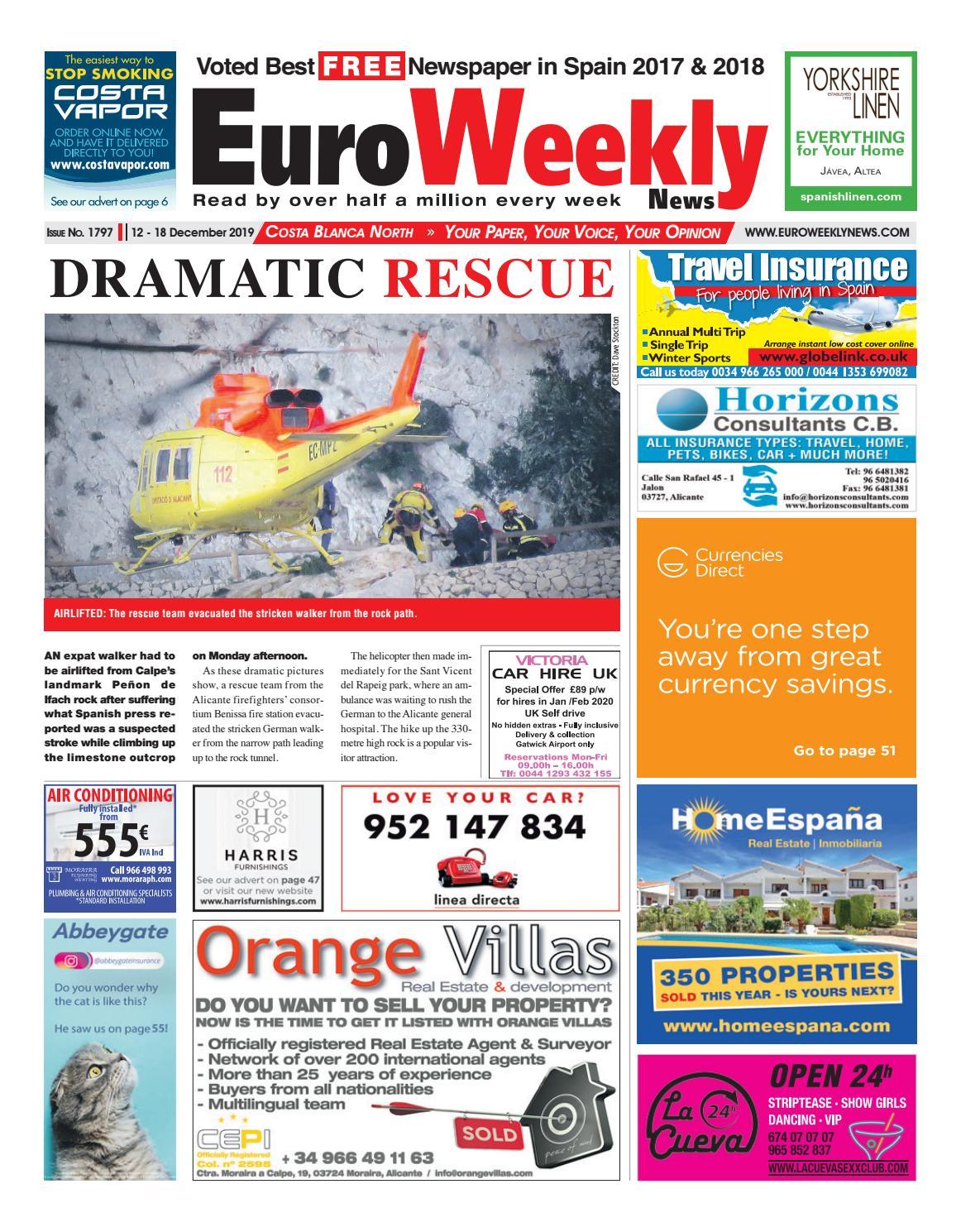 Euro Weekly News Costa Blanca North 12 18 December 2019 Issue