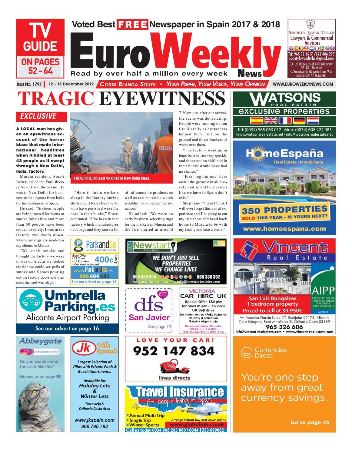 Ama De Casa Seduce euro weekly news - costa blanca south 12 - 18 december 2019