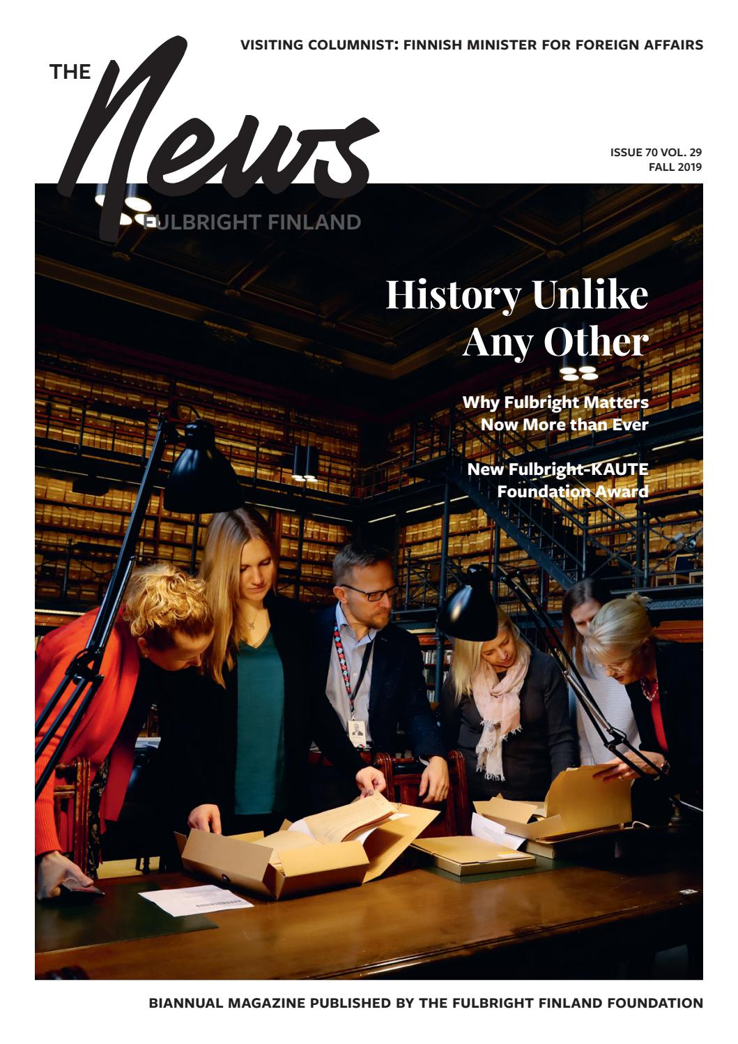 Fulbright Finland News 2 2019 By Fulbright Finland Issuu