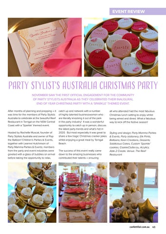 Page 43 of Party Stylist's Australia Christmas Party
