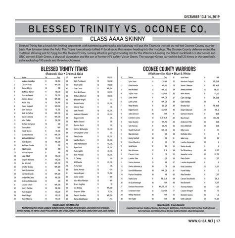 Page 17 of Class AAAA Blessed Trinity vs. Oconee County Saturday, December 14 | 4:30 PM