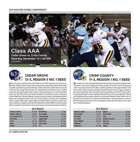 Page 22 of Class AAA Cedar Grove vs. Crisp County Saturday, December 14 | 1:00 PM