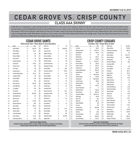 Page 23 of Class AAA Cedar Grove vs. Crisp County Saturday, December 14 | 1:00 PM