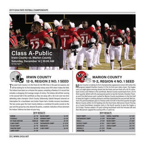 Page 28 of Class A-Public Irwin County vs. Marion County