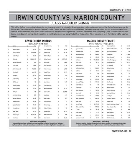 Page 29 of Class A-Public Irwin County vs. Marion County