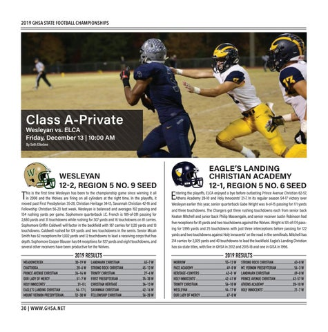 Page 30 of  Class A-Private Wesleyan vs. ELCA Friday, December 13 | 10:00 AM