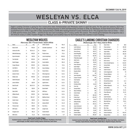Page 31 of  Class A-Private Wesleyan vs. ELCA Friday, December 13 | 10:00 AM