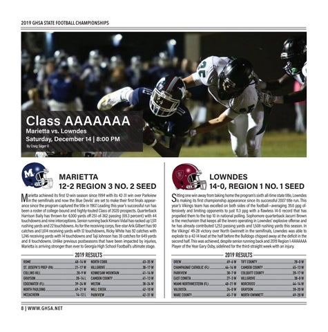 Page 8 of Class AAAAAAA Marietta vs. Lowndes Saturday, Dec. 14 | 8:00 PM