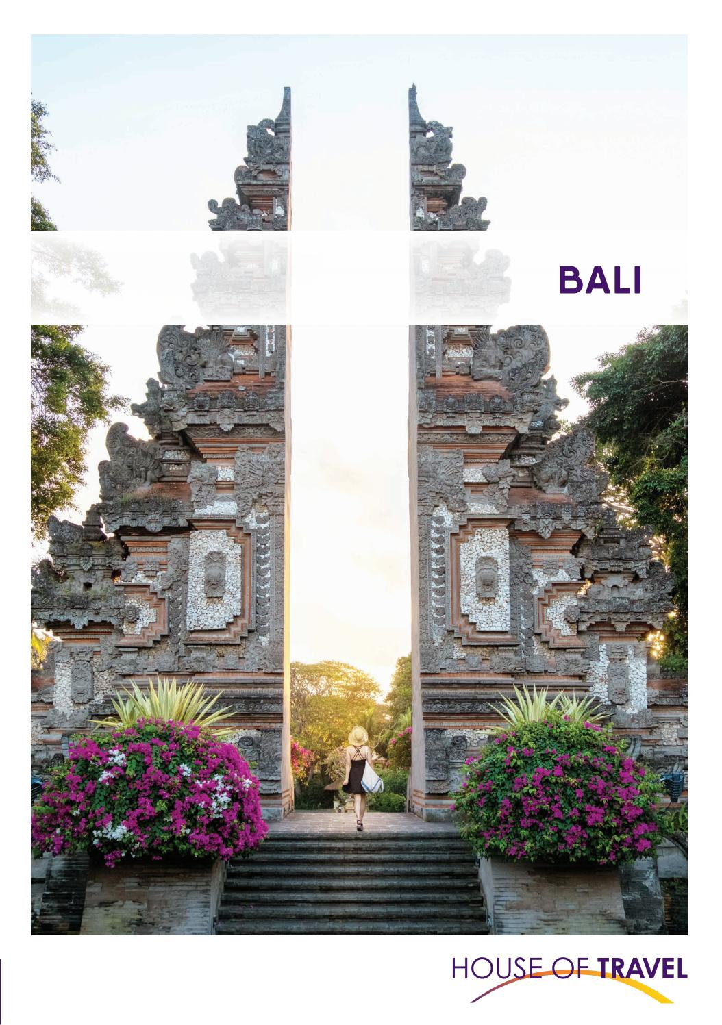 Bali Brochure 2020 By House Of Travel Issuu