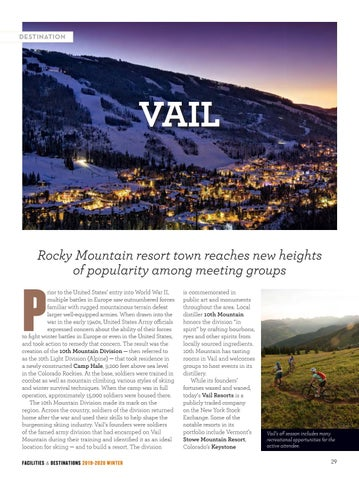 Page 31 of Facilities & Destinations: VAIL
