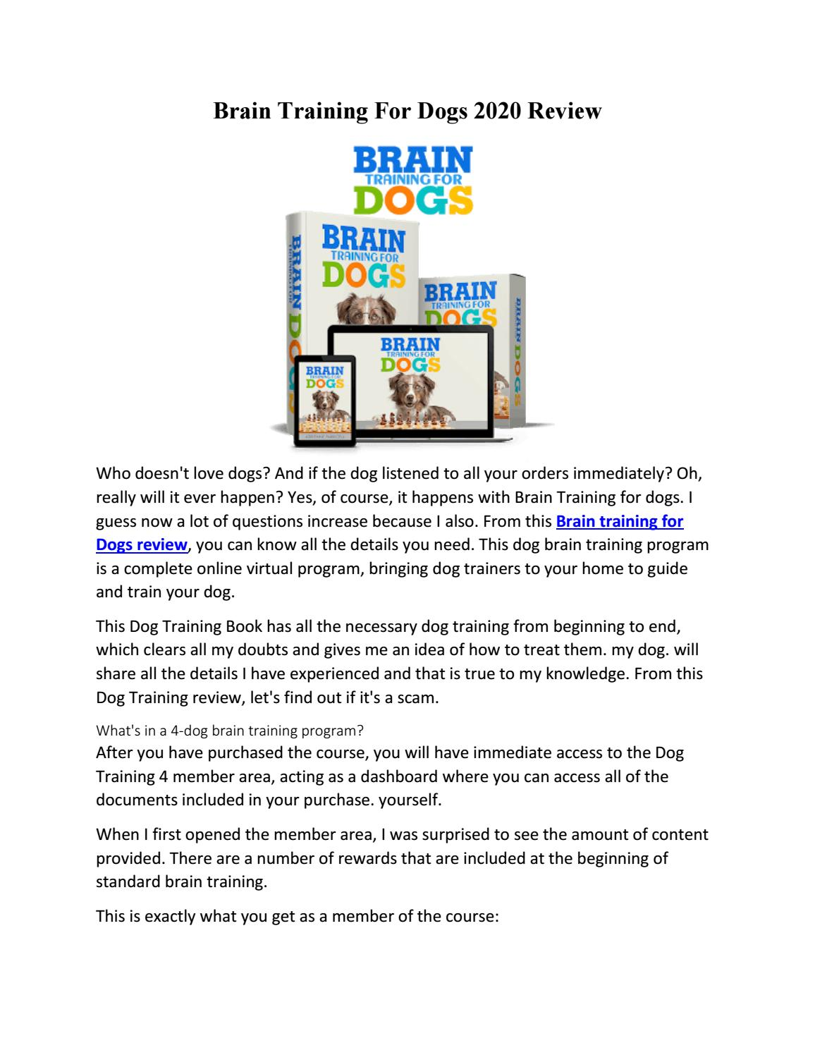 Obedience Training Commands Brain Training 4 Dogs Deals 2020