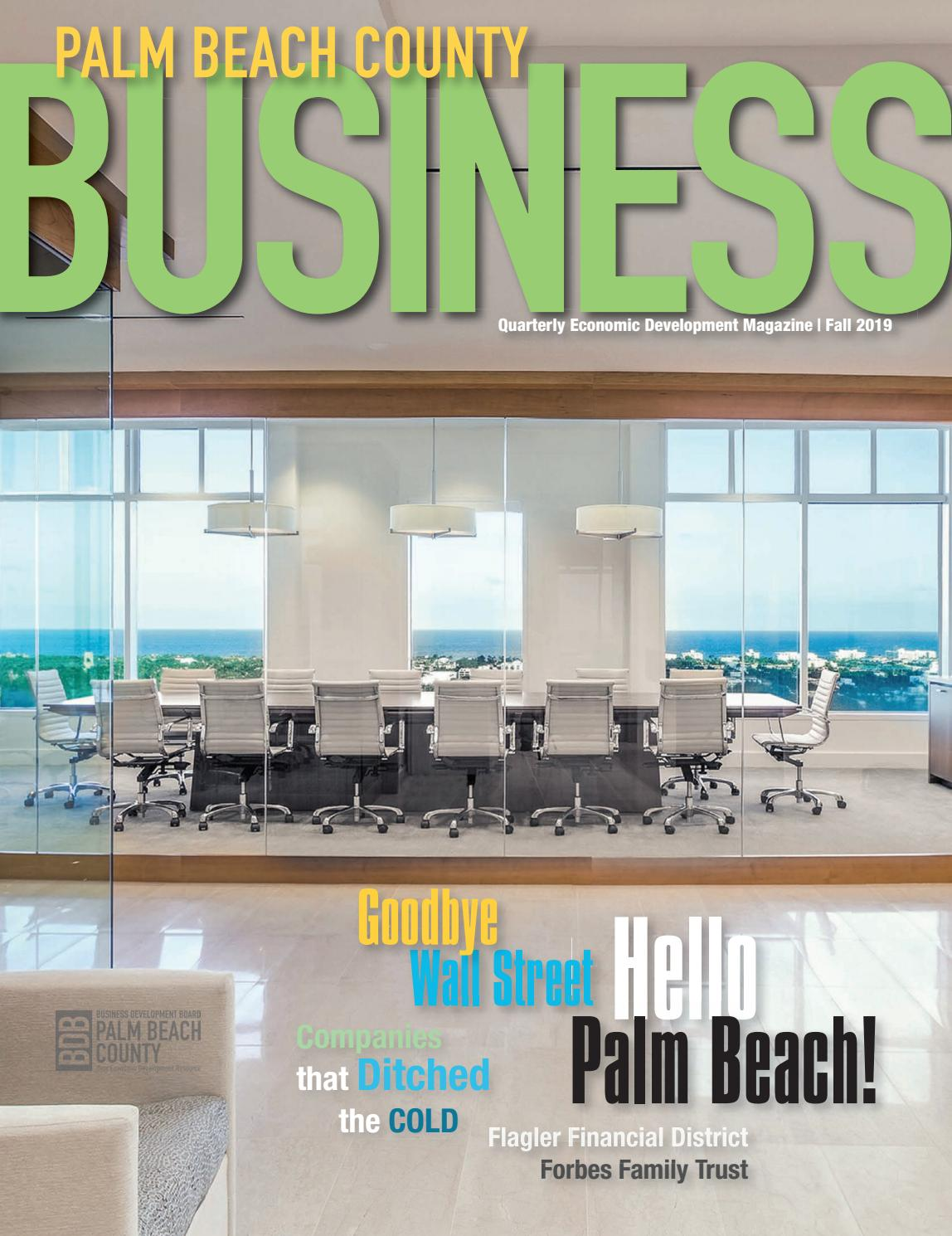 Palm Beach County Business Fall 2019 By Passport Publications Media Corporation Issuu
